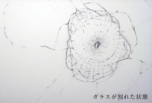 飛散防止効果のあるフィルムを貼ったガラス
