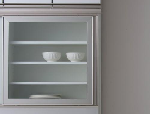 食器棚につくガラス「クリアガラス」
